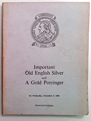 Christie's auction catalog. Important old English silver