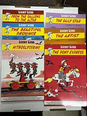 Set of 6 LUCKY LUKE books in English published by Euro Books and not Cinebook