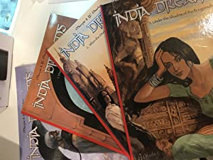 Set of 4 European Graphic Novels in English - INDIA DREAMS published by Om Books - 1. Misty Trail...