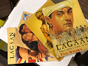 Set of 4 Books. 3 Colouring Books - LAGAAN - Once Upon a Time in India AND - THE STORY - Comic bo...