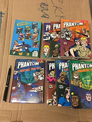 Set of 8 Books with the complete set of 24 Phantom comics titles in English - U-Boat Mystery and ...