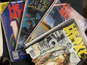 Set of 8 Magazines: Heavy Metal (The Adult Illustrated Fantasy Magazine) Summer 1986 - Winter 1987