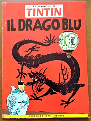 Tintin Book in Italian - The Blue Lotus (Il Drago Blu) - Foreign Language - Langues Étrangères