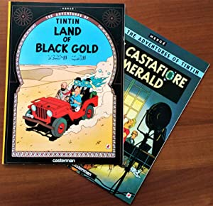 Set of 2 - The Adventures of Tintin: Land of Black Gold & The Castafiore Emerald