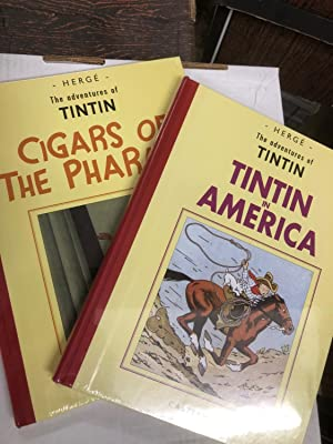 Set of 2 Black and White facsimile editions from the ADVENTURES OF TINTIN - 1. Tintin in America,...