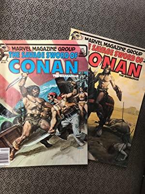 Set of 2 titles from Marvel's - THE SAVAGE SWORD OF CONAN #75 and #76 (1982 April and May)