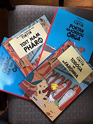 Unique Set of 4 books from The Adventures of TINTIN - The Cigars of the Pharaoh and The Crab with...