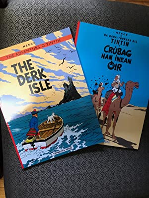 Unique Set of 2 books from The Adventures of TINTIN - in 2 different languages published by DALEN...