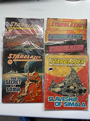 STARBLAZER - Science Fiction Adventure in Pictures. Set of 7 British Comics #s 12, 13, 16, 23, 37...