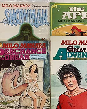 Milo Manara- Set of 4 Books: The Great Adventure, The Ape, Perchance to Dream, The Snowman (ADULT...