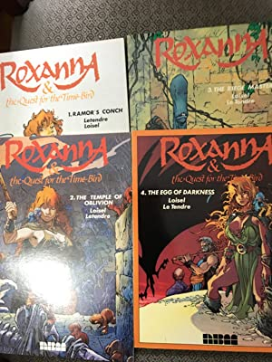 Roxanna and the Quest for the Time Bird- Set of 4 First Edition Books: # 1 Ramor's Conch, # 2 The...