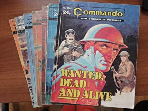 Commando: A Matching Set of 7 Comics