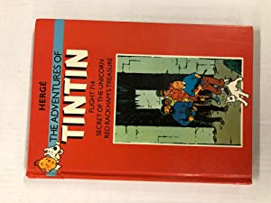 Tintin 3 in 1 Book - Methuen Editions - The Adventures of Tintin: Flight 714, Secret of the Unico...