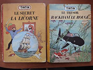 The Adventures of Tintin: Set of 2 MEDALLION EDITIONs in French: Le Secert de La Licorne (Secret ...