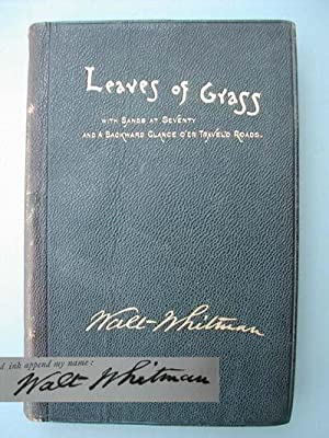 Leaves of Grass with Sands at Seventy: Whitman, Walt
