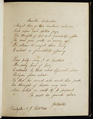 Religious Album [autograph album of Mattie Pierson with mezzotint plates; 1858 and 1862 Bridgeton, ...