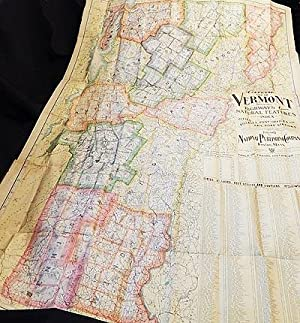 Complete Map of Vermont Showing Highways & Natural Features with an Index of all Cities, Villages...