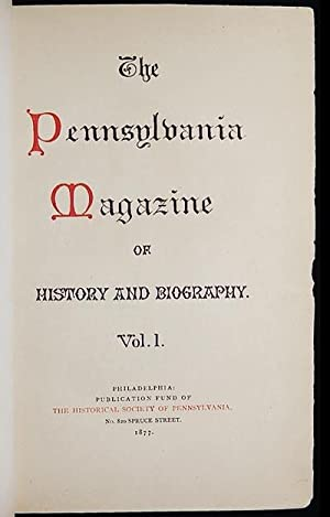 The Pennsylvania Magazine of History and Biography, Vol. 1 nos. 1-4 [Mark Twain]