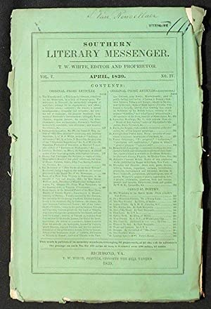 Southern Literary Messenger April 1839 vol. 5, no. 4: Zschokke, Heinrich