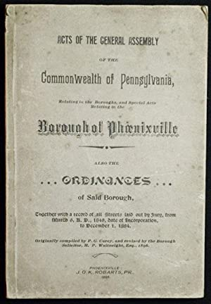Acts of the General Assembly of the Commonwealth of Pennsylvania, Relating to the Boroughs, and ...