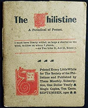 The Philistine: A Periodical of Protest vol. XI no. 4, Sept. 1900 [1st appearance of Stephen Crane&...