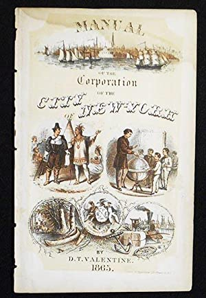 Chromolithographed Title Page from Manual of the Corporation of the City of New York by D.T. Vale...
