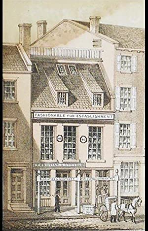 Chromolithograph of Christian G. Gunther's Fur Establishment [from Valentine's Manual of ...