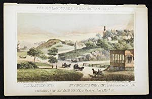 Terminus of the Main Drive in Central Park, 110th St. [chromolithograph from Valentine's ...