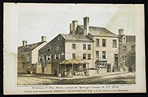 Grocery & Tea Store, corner of Spring & Crosby St. N.Y. 1826; Owned and occupied by Charles Dusen...