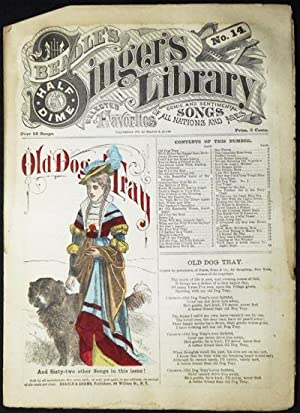 """Beadle's Half-Dime Singer's Library No. 14: """"Old Dog Tray"""""""