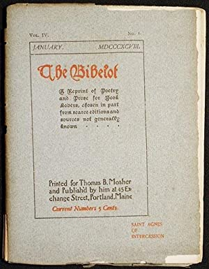The Bibelot: A Reprint of Poetry and: Rossetti, Dante Gabriel