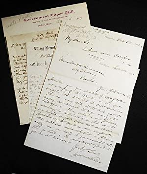 5 letters, 1873-1879, to William Ward (1837-1895) [Philadelphia and Chester County Railroad]