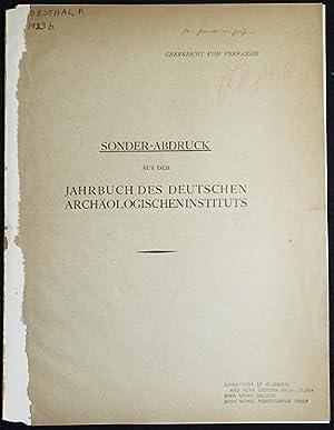 Scheuklappen; Sonder-Abdruck aus dem Jahrbuch des Deutschen Archäologischen Instituts; Ü...