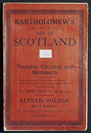Bartholomew's Half-Inch to Mile Map of Scotland for Tourists, Cyclists, and Motorists: Sheet 27 C...