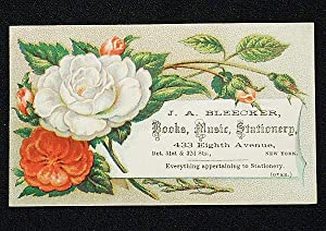 J.A. Bleecker, Books, Music, Stationery [trade card]