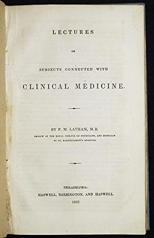 Lectures on Subjects Connected with Clinical Medicine