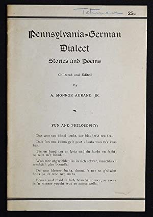 Pennsylvania-German Dialect Stories and Poems