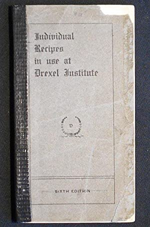 Individual Recipes in use at Drexel Institute