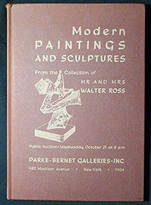 Modern Paintings and Sculptures From the Collection of Mr and Mrs Walter Ross, New York: Public A...