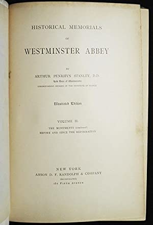 Historical Memorials of Westminster Abbey [vol. 2]