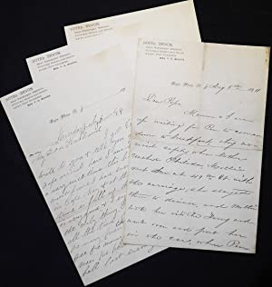 Handwritten letters on stationary of the Hotel Devon in Cape May, N.J., 1894