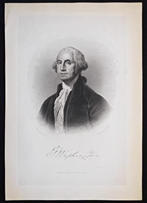 G. Washington; Painted by G. Stuart; Engraved by J. C. Buttre [engraved print]