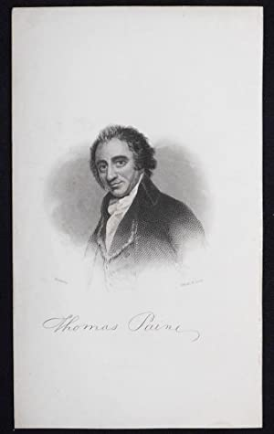Thomas Paine; Romney [engraved print]