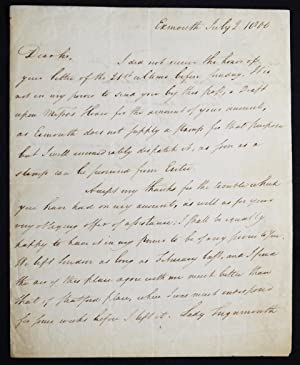 Autograph letter signed, with engraved portrait of Teignmouth