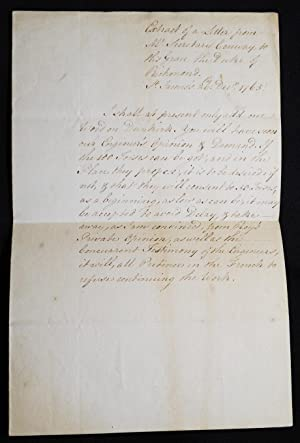 Extract of a Letter from Mr. Secretary Conway to His Grace the Duke of Richmond, St. James's, 26t...