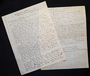 Autograph letter signed to Horace C. Hovey