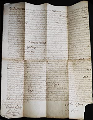 Handwritten mortgage: John Bydes the Elder of Little Munden and his son John Bydes the Younger of...
