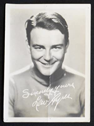 Lew Ayres -- Black-and-White Photograph
