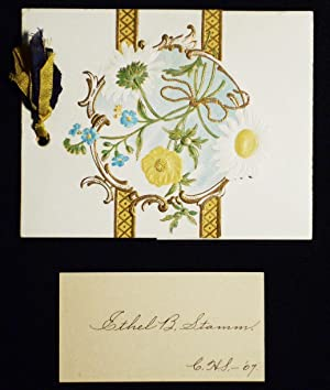 1907 Cumru Township High School commencement invitation with card of Ethel B. Stamm