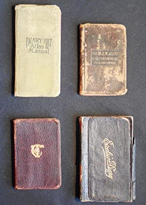 John W. Hemig Diaries -- 4 advertising notebooks and diaries used by Philadelphia waiter 1916-1920